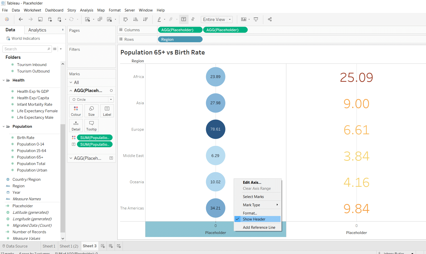 How do I create Placeholders in Tableau & What can I do with them?