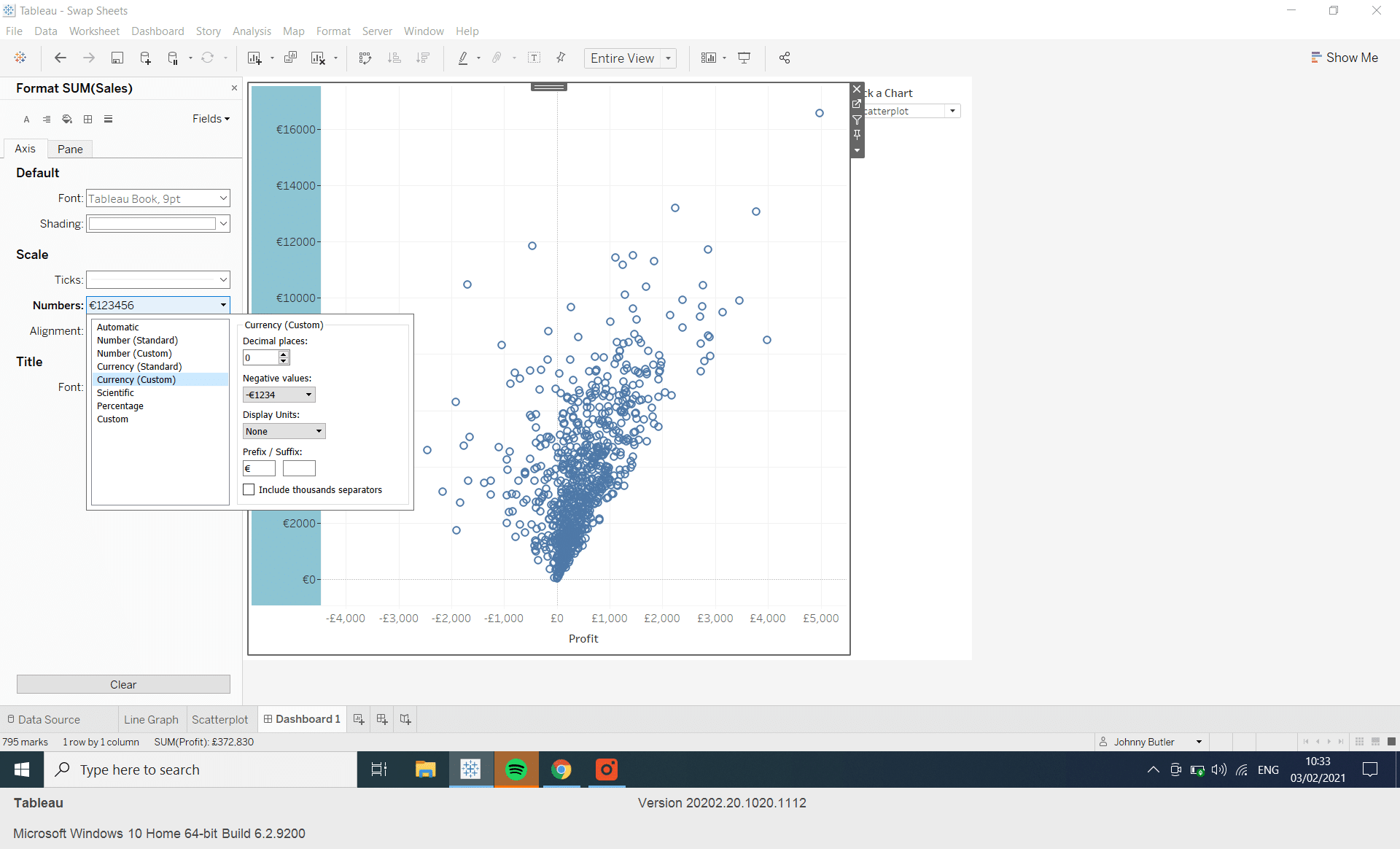 How do I swap sheets in Tableau?