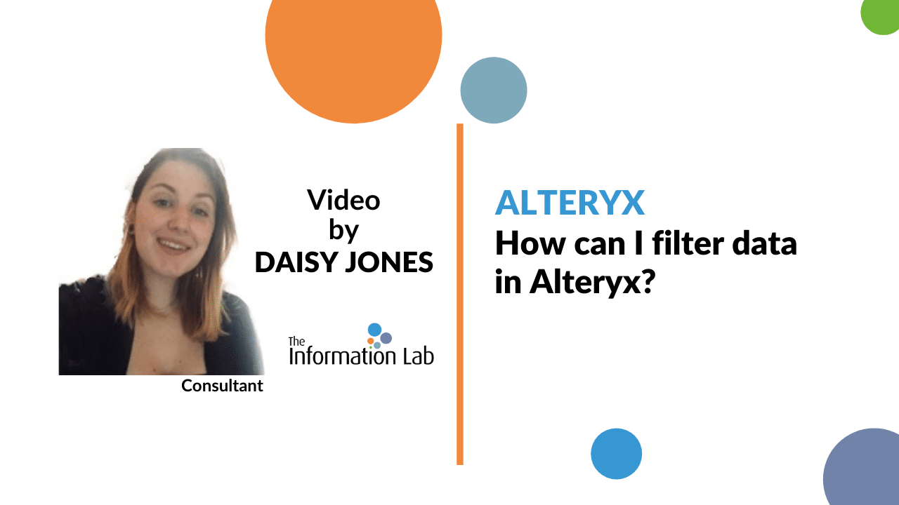 How can I Filter Data in Alteryx?