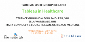 Tableau User Group Ireland – May 26th – Three Presentations – Five Great Speakers