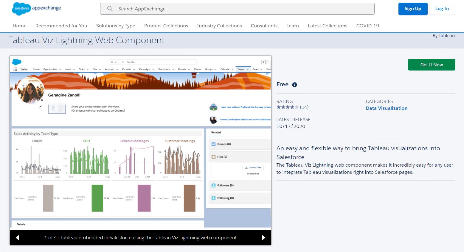 Tableau Viz web component for Salesforce Lightning – Three Simple Steps to Lightning Data Enlightenment